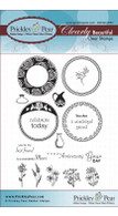 Spring Scalloped Circles - Clear Stamp Set