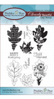 Oak & Maple Leaf - Clear Stamp Set