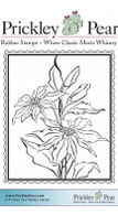 Poinsettia Postage - Red Rubber Stamp