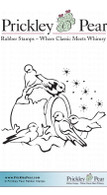 Winters Birds - Red Rubber Stamp