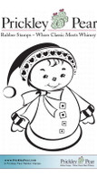 Ellie Snow Woman, Small - Red Rubber Stamp