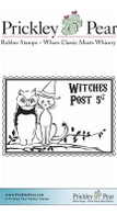 Witches Post - Red Rubber Stamp