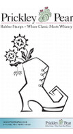 Witches Boot - Red Rubber Stamp