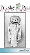 Pumpkin Ghost - Red Rubber Stamp