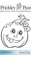 Pumpkin & Mouse - Red Rubber Stamp