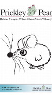Buster the Mouse - Red Rubber Stamp