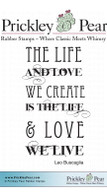 Life & Love - Red Rubber Stamp