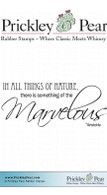 Marvelous - Red Rubber Stamp