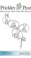 Orchids - Red Rubber Stamp