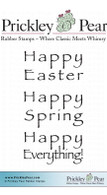 Happy Everything-Stacked - Red Rubber Stamp