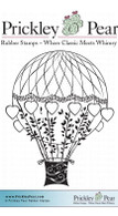 Valentine Balloon - Red Rubber Stamp