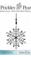 Dangling Snowflake - Red Rubber Stamp