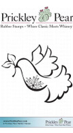 Snowflake Dove - Red Rubber Stamp