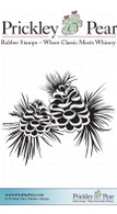 2 Pinecones - Red Rubber Stamp