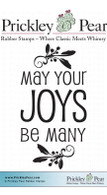 Joys Be Many - Red Rubber Stamp