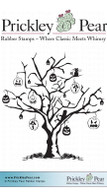 Halloween Tree - Red Rubber Stamp