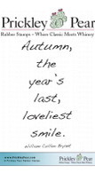 Loveliest Smile - Red Rubber Stamp