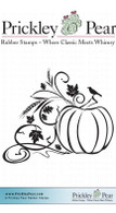 Pumpkin Swag - Red Rubber Stamp