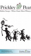 Halloween Kids - Red Rubber Stamp