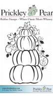 Stacked Pumpkins - Red Rubber Stamps