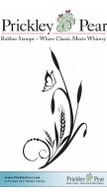 Cattail Flourish - Red Rubber Stamp