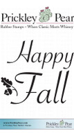 Happy Fall 2 - Red Rubber Stamp