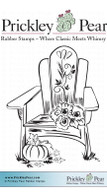 Fall Adirondack Chair - Red Rubber Stamp