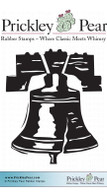 Liberty Bell - Red Rubber Stamp