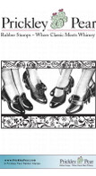 Fashionable Shoes ATC - Red Rubber Stamp