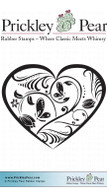 Butterfly Heart - Red Rubber Stamp
