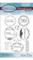 Scalloped Circle & Oval 4-Floral - Clear Stamp Set