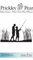 Gone Fishing - Red Rubber Stamp
