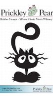 Scared Cat, Small - Red Rubber Stamp