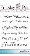 Silent Phantom - Red Rubber stamp