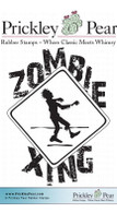 Zombie Xing - Red Rubber Stamp