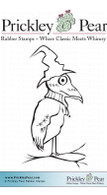Homer the Raven - Red Rubber Stamp