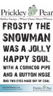 Frosty the Snowman - Red Rubber Stamp
