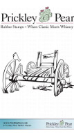 Wooden Cart - Red Rubber Stamp