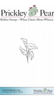 Calla Lilies, Sm. - Red Rubber Stamp