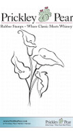 Calla Lilies - Red Rubber Stamp