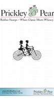 Bicycle for Two Sm. - Red Rubber Stamp