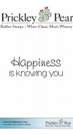 Happiness Is Knowing - Red Rubber Stamp