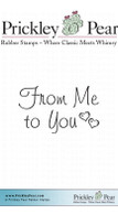 From Me To You - Red Rubber Stamp