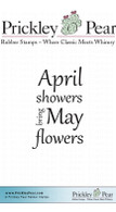 April Showers - Red Rubber Stamp