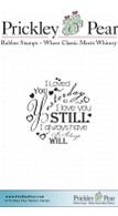 Always Will Circle - Red Rubber Stamp