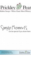 Simple Moments - Red Rubber Stamp