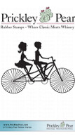 Bicycle for Two - Red Rubber Stamp