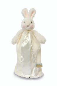 Off-white velour blanket with white plush bunny!