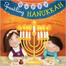 """Happy Sparkling Hanukkah"" Board Boardbook by Elizabeth Spurr"