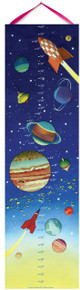 "Eeboo's ""Space- Keepsake Growth Chart Includes 22 Stickers"" GCSPAC"